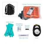 Chemical HAZMAT Suit Kit - Hi Viz Coverall, Urban Escape